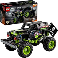 LEGO Technic Monster Jam Grave Digger, Kit 2 in 1 da Truck a Buggy Fuoristrada con Azione Pull-Back, 42118