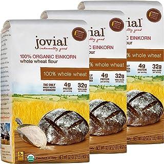 Jovial Einkorn Baking Flour | 100% Organic Einkorn Whole Wheat Flour | 100% Whole Grain | High Protein | Non-GMO | USDA Ce...
