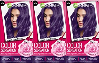 Garnier Hair Color Sensation Hair Cream, Grape Expectations, (Pack of 3)