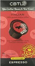 CBTL Italian Espresso Dark Capsules By The Coffee Bean & Tea Leaf, 16-Count Box