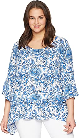 Plus Size Ruffle Hem Top