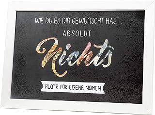Geldgeschenk NICHTS gewünscht Verpackung Geburtstag Reisen Urlaub Hochzeit originelle Idee Vintage individuelles Geschenk ...