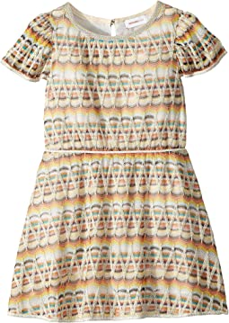 Zigzag Lame Dress (Toddler/Little Kids)