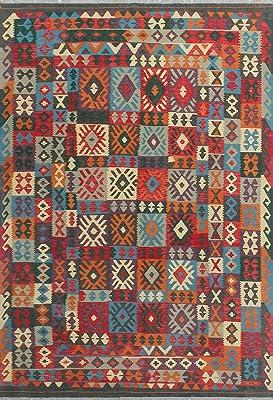 Amazon Com Rustic Lodge Bear Moose Deer Panel 5x8 Red