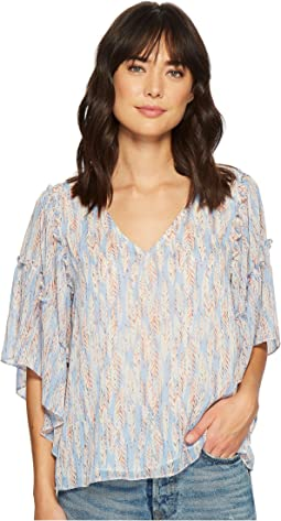 Miss Me - V-Neck Ruffle Sleeve Top