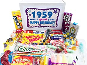 Woodstock Candy ~ 60th Birthday Gift Ideas Retro Vintage Candy Assortment from Childhood for 60 Year Old Man or Woman Born 1959 Jr