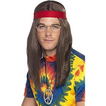 pantaloni Smiffys Costume Orion the Hippie Taglia S Multicolore Bandana e medaglione con top