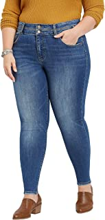 Plus Size Flying MonkeyTM high Rise Double Button Skinny Jean