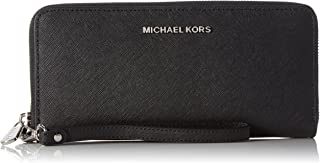Michael Kors 32S5STVE9L-001 Saffiano Leather Continental Wallet, Black, One Size