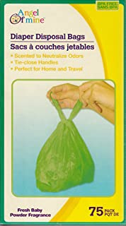 Angel of Mine: Diaper Disposal Sacks Bags (Scented to Neutralized Odors) 75 Count Per Box (One Box)