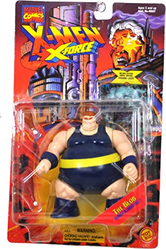 promociones de equipo Marvel Comics Year 1995 X-Men X-Force Series 5 Inch Inch Inch Tall Action Figure - THE BLOB Rubber azulbber Belly with 2 Drumsticks by Marvel Comics  entrega gratis