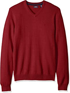 IZOD Men's Premium Essentials Solid V-Neck 12 Gauge Sweater