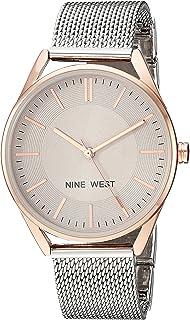Nine West - Reloj de brazalete de malla para mujer