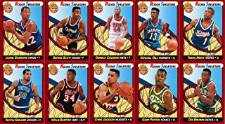 1991-92 Fleer Basketball Rookie Sensations 10 Card Hand Collated Set