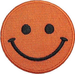 Papapatch Smiley Happy Face Smile Fun Logo Hippie Retro Jacket T-shirt Costume DIY Applique Embroidered Sew Iron on Patch - Orange (IRON-SMILEY-OR)