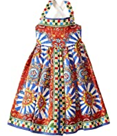 Dolce & Gabbana Kids - Wheel Crisscross Back Dress (Big Kids)