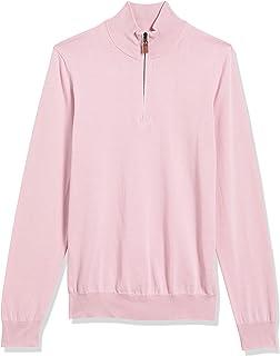 Amazon Brand - Buttoned Down Men's 100% Supima Cotton Quarter-Zip Sweater