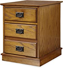 Home Styles Modern Craftsman Oak Mobile File with Distressed Oak Finish, Poplar Solids, New Age Brown Metal Accents, One Storage Drawer, One File Drawer, and Hidden Recessed Casters