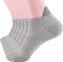 DarkCom 5 | 6 Pares Calcetines Deportivos Algodón Malla Transpirable Tobillo Hombres y Mujeres, Calcetines Correr, Calcetines Caminar, Calcetines
