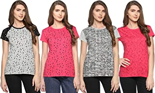 69GAL (105Women's T-Shirt (Multi Coloured) (Pack of 4) (S/M/L/XL/3CL/5XL)
