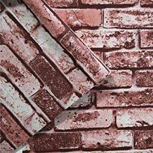Brick Wallpaper Peel and Stick Wallpaper Self-Adhesive Vintage Brick Wallpaper 236