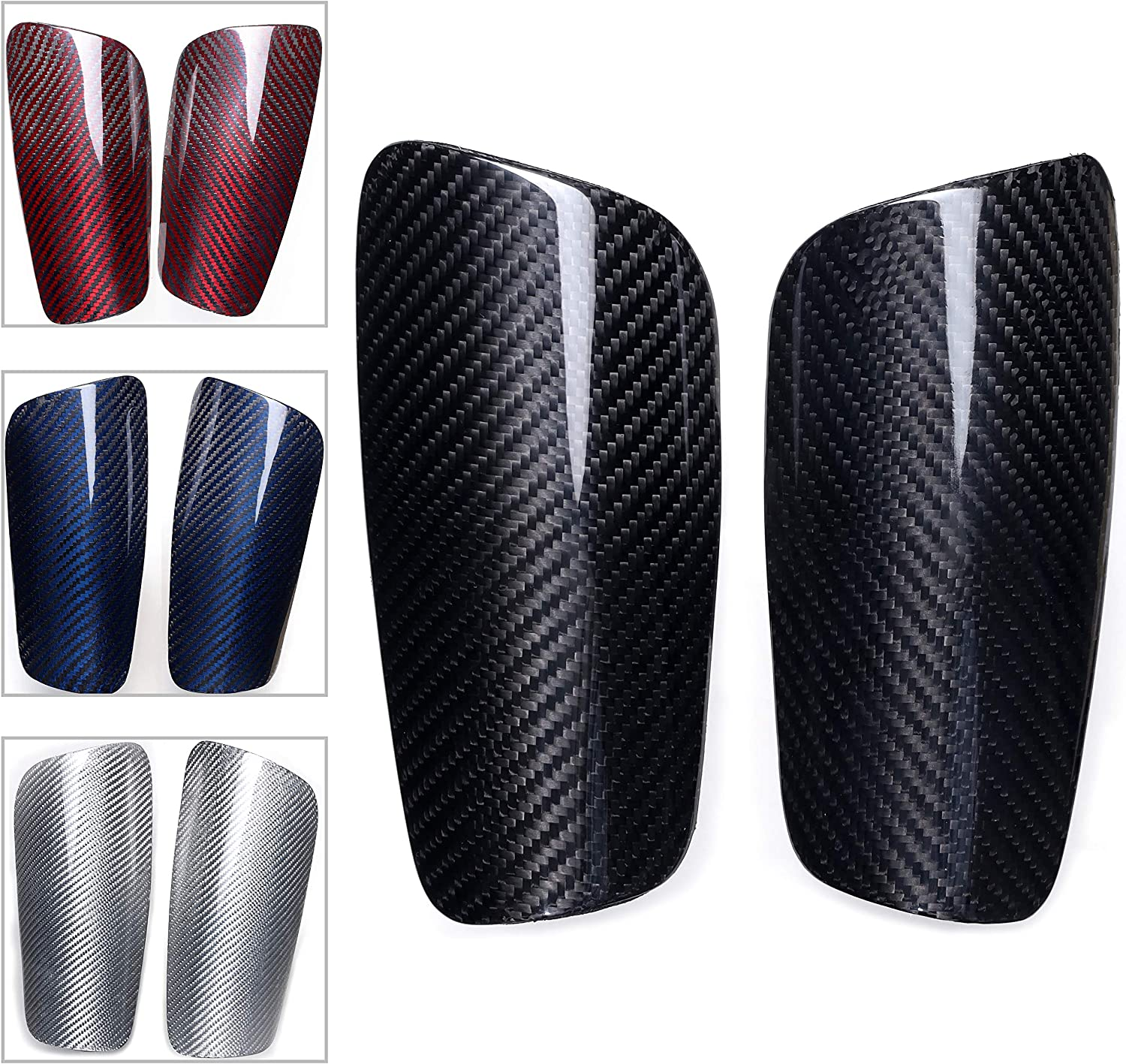 Carbon Fiber Soccer Max 63% OFF Shin 2021new shipping free shipping Guards with Kid You Cushioned for Large