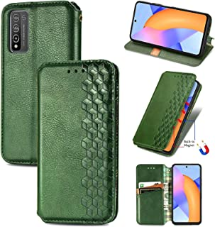 CHENCHUAN Case Cover For Huawei Honor 10 X Lite Cubic Grid Pressed Horizontal Flip Magnetic PU Leather Case with Holder & ...