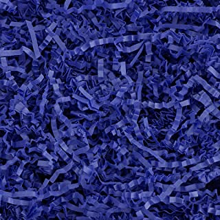 Crinkle Cut Paper Shred Filler (1/2 LB) for Gift Wrapping & Basket Filling - Royal Blue   MagicWater Supply