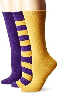 Muk Luks Women's Game Day Sport Crew Socks (Pack of Three Pairs)