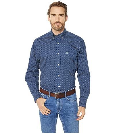 Ariat Wrinkle Free Pismo Print Shirt (Black Iris) Men