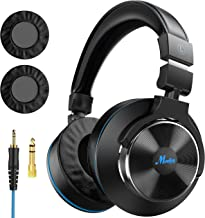 Moukey Wired Over Ear DJ Stereo Monitor Headphones, Professional Studio Monitor & Mixing, Music Listening, Piano, Sound Gaming Chat, Adapter-Free, 3.5mm and 6.35 mm Plug Newest Japanese Drive Unit