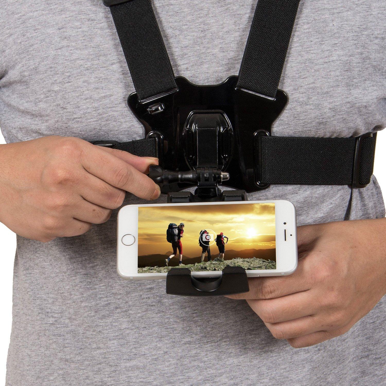 Coreal - Arnés para teléfono móvil con Soporte para el Pecho y la Correa para teléfono móvil, cámara de acción POV para Samsung iPhone Plus, etc.: Amazon.es: Electrónica