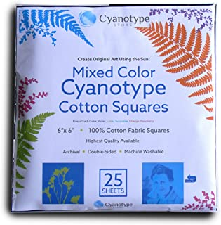 Cyanotype Cotton Squares - 25 pack (6