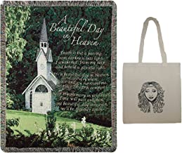 A Beautiful Day In Heaven Inspirational Memorial Tapestry Throw, 60
