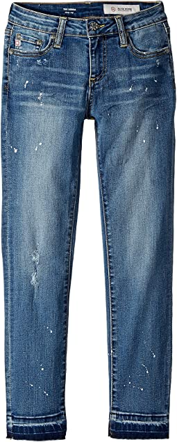 AG Adriano Goldschmied Kids - The Sierra Skinny Crop Release Hem in Antique Wash (Big Kids)