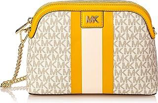 Michael Kors Mott Large Zip Dome Logo Stripe Cross Body