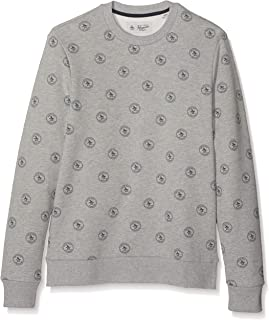 Original Penguin Men's All Over Print Stamp Logo Sweat Shirt Sweatshirt