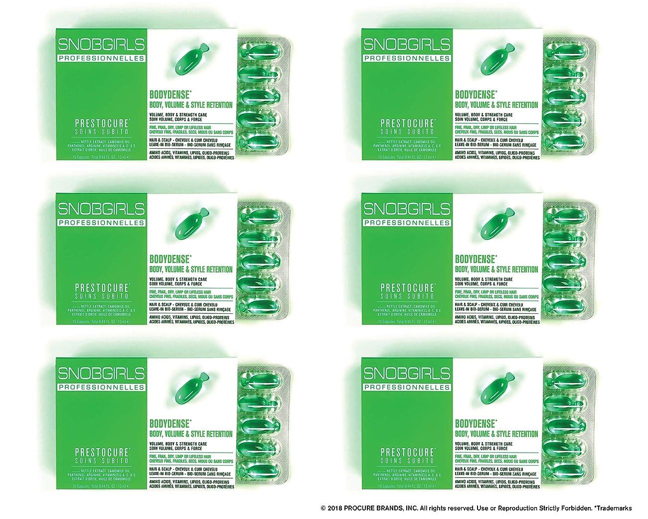 つかまえる締めるマイクロプロセッサSNOBGIRLS BODYDENSE TWIST-OFF HAIR CAPSULES - 6×15個のパックのパック(合計90個のパック)