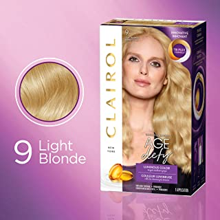 Clairol Age Defy Expert Collection, 9 Light Blonde, Permanent Hair Color, 1 Kit (Pack of 3) (PACKAGING MAY VARY)