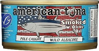 AMERICAN TUNA Smoked Albacore Tuna in Olive Oil, 6 OZ