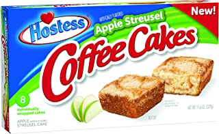 Hostess Coffee Cakes, Apple Streusel, 8 Count (Pack of 6)