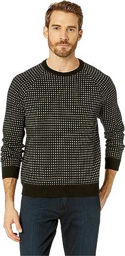 Long Sleeve Alternative City Grid Raglan Sweater