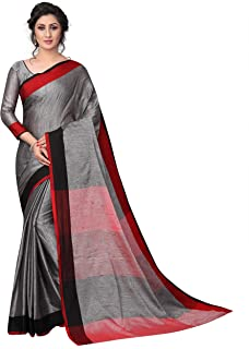Perfectblue Women's Linen Saree With Blouse Piece (LinenMVRVariation1)