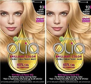 Garnier Olia Ammonia-Free Brilliant Color Oil-Rich Permanent Hair Color, 9.3 Light Golden Blonde (Pack of 2) Blonde Hair Dye