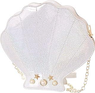 Kawaii-Story LB-191-2 Weiß Muschel Perle Glitzer Metallic Hologram Party Tasche Lolita Pastel