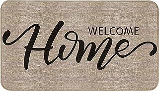 EasyAcc Front Door Mat Indoor Outdoor for Entry, Welcome Home Entrance Doormat 30 x 17 inches Non Slip Washable Door Mats ...