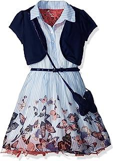 فستان متزلج للفتيات من Beautees مع جاكيت خفيف