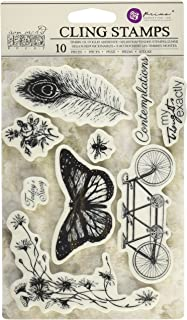 Prima Marketing 814663 Nature Iron Orchid Designs Cling Stamps, 5
