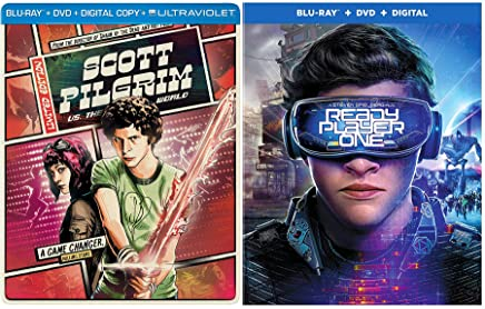 Game on! Level Up Ready Player One Blu Ray + DVD + Digital Steven Spielberg + Scott Pilgrim VS the World Steelbook Limited Edition Video Game Movies