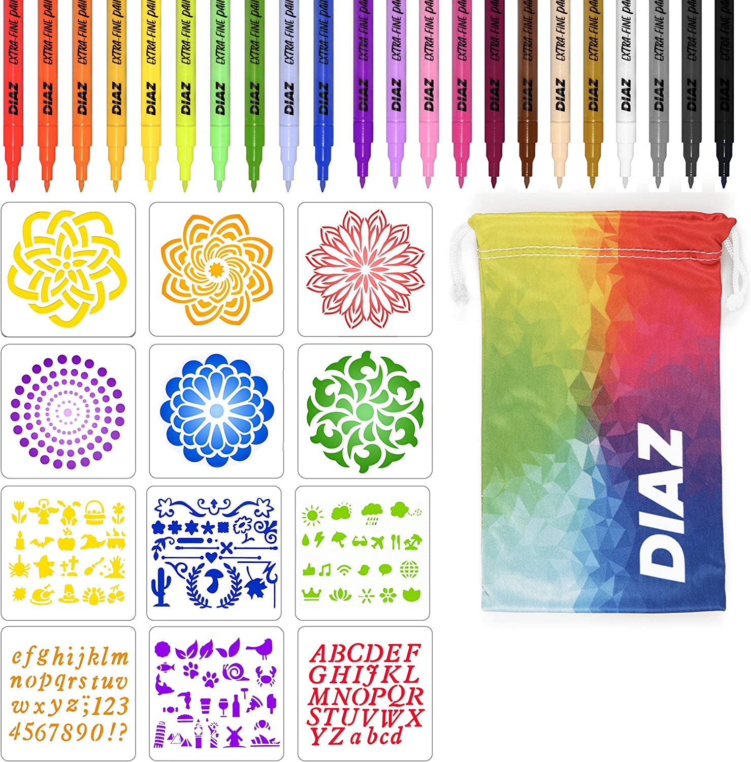 Sales results No. 1 24 Acrylic Extra Fine Tip Paint Under blast sales Come Pens With F Markers